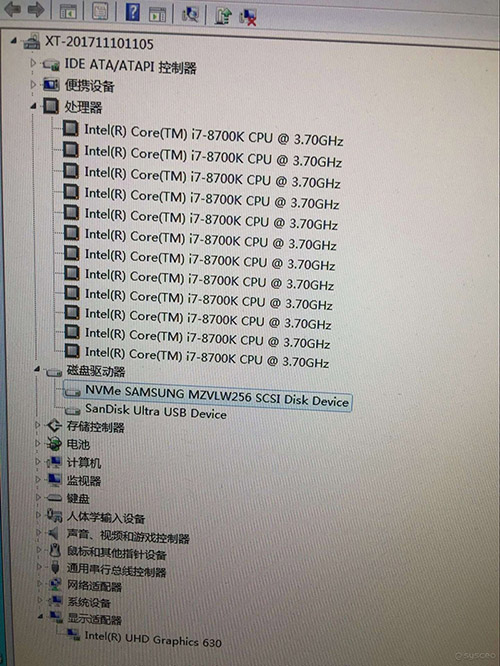 win7 8700K 8代CPU集显图集