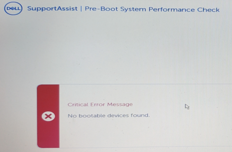 No Bootable devices found